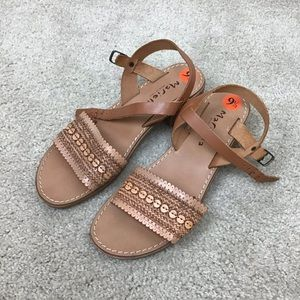 Mariella Made in Italy Sandals Tan Size 9.5